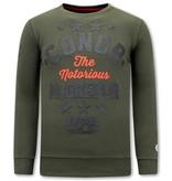 Local Fanatic Heren Sweater met Print - Conor McGregor - Groen