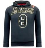 Local Fanatic Hoodie Heren Print - Lakers - Zwart