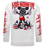 TONY BACKER Gangster Mouse Heren Sweater - Wit
