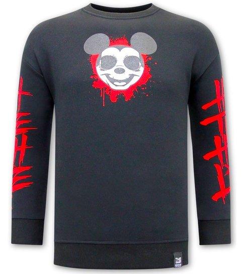 TONY BACKER Gangster Mouse Heren Sweater - Zwart