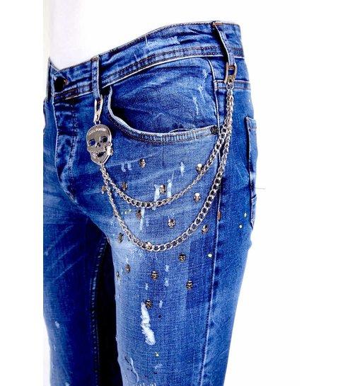 Local Fanatic Exclusive Super Stretch Jeans Heren - 1009 - Blauw