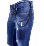 Local Fanatic Exclusive Spijkerbroek Heren Slim fit - 1001- Blauw