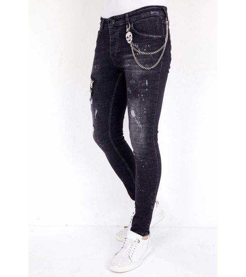 Local Fanatic Exclusive Slim Fit Jeans Stretch Heren - 1007- Zwart