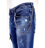 Local Fanatic Exclusive Jeans Heren Verfspatten - 1002 - Blauw