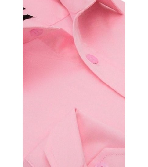 TONY BACKER Luxe Blanco Satijn Hemd voor Mannen - Slim Fit - 3071 - Roze