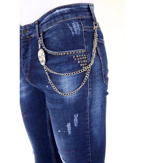 LF Exclusive Heren Jeans met Studs - 1025 - Blauw