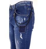 LF Exclusieve Heren Jeans met Verfspetters - 1026 - Blauw