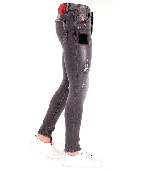 LF Exclusieve Grijze Jeans Heren met Scheuren - 1032 - Grijs