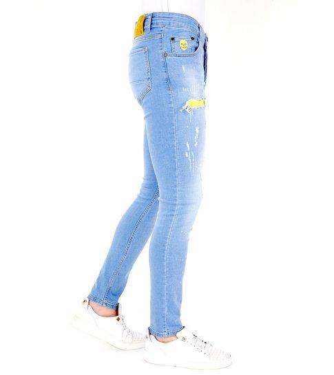 LF Exclusieve Lichtblauwe Jeans met Gaten Heren - 1024- Blauw