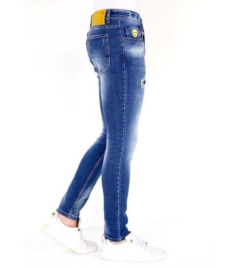 LF Exclusieve Slim fit Jeans Stretch Heren  - 1023- Blauw