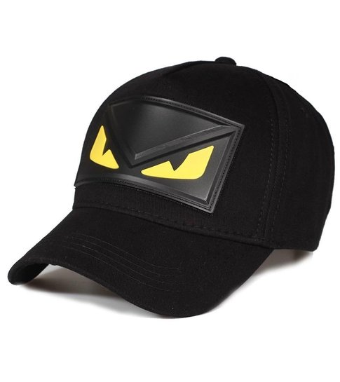 Enos Baseball Cap Heren - Yellow Eye - Zwart