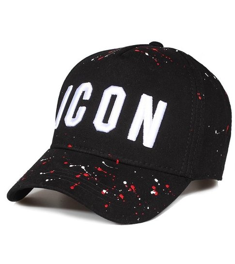 Enos Baseball Cap Heren - ICON Verfspatten - Zwart