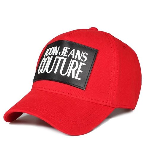Enos Baseball Cap Heren ICON Jeans Couture - Rood