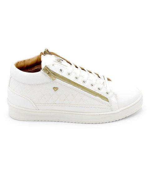 Cash Money Heren Sneaker - Jailor Full White - CMS98 - Wit