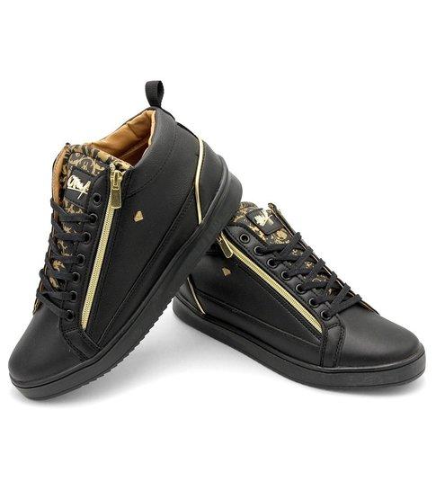 Cash Money Heren Sneaker - Majesty Black - CMS98 - Zwart