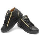 Cash Money Heren Sneaker - Maya Full Black- CMS98 - Zwart