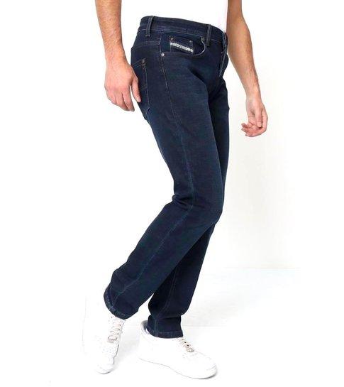 TRUE RISE Regular Fit Jeans Stretch Heren - A-11044 - Blauw