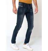 TRUE RISE Slim Fit Spijkerbroeken Heren - A-11049 - Navy