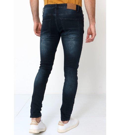 TRUE RISE Biker Jeans Heren Slim Fit - 3025 - Navy