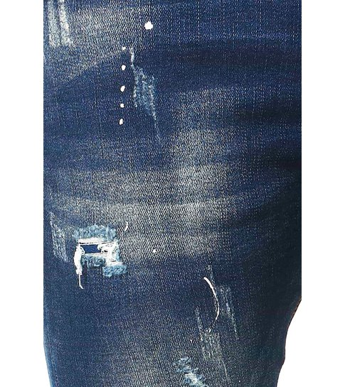 TRUE RISE Spijkerbroeken Heren Slim Fit - D-3033 - Blauw