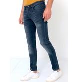 TRUE RISE Spijkerbroek Heren Slim Fit -D-3059 - Blauw