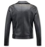 Bludeise Zwart Biker Jasje Dames - AY033