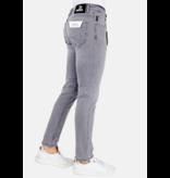 TRUE RISE Heren Jeans Regular Fit - A61.H - Grijs
