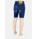 Local Fanatic Jeans Short Heren Stretch - 1052 - Blauw