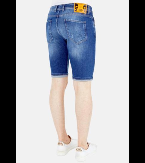 Local Fanatic Denim Shorts Heren Slim Fit - 1049 - Blauw