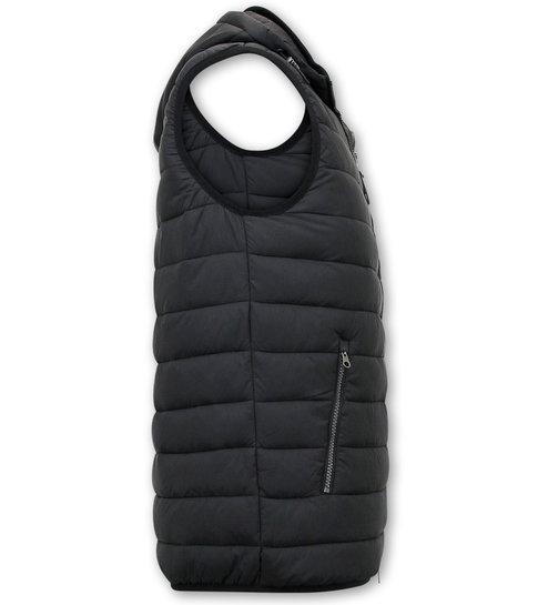 ENOS Trendy Bodywarmer Heren - Zwart