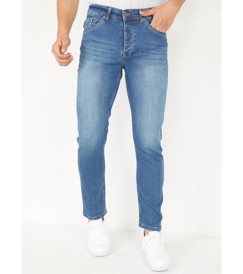 TRUE RISE Blauwe Spijkerbroek Heren Regular Fit - DP04 - Blauw