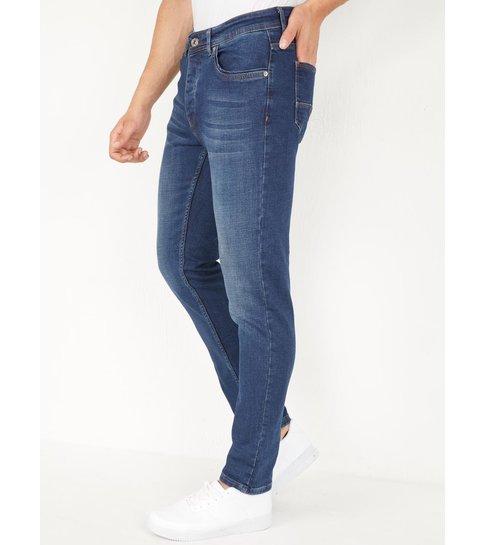 TRUE RISE Donkerblauwe Jeans Heren Regular Fit - DP05 - Blauw