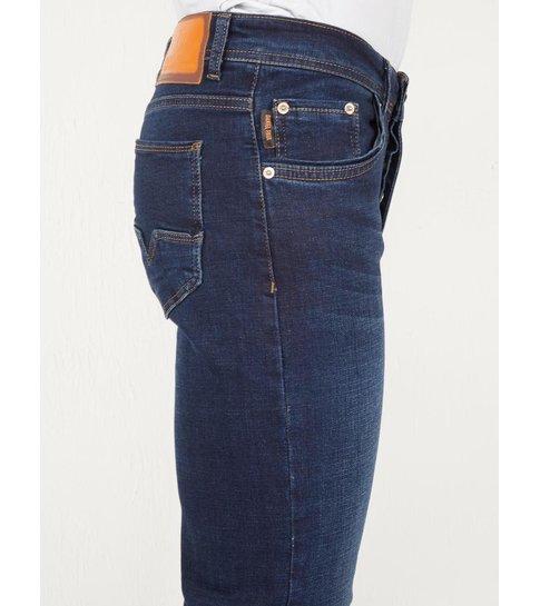 TRUE RISE Regular Fit Jeans Heren Donkerblauw - DP06 - Blauw