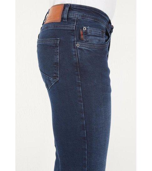 TRUE RISE Blauwe Heren Denim Jeans Regular Fit - DP13 - Blauw
