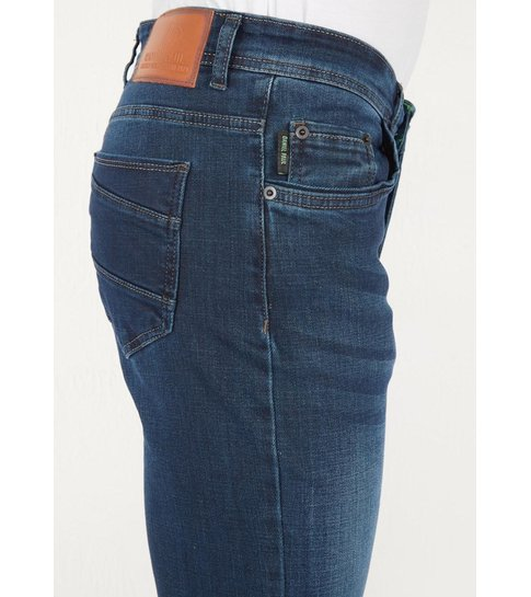 TRUE RISE Regular Fit Jeans Mannen - DP14 - Blauw