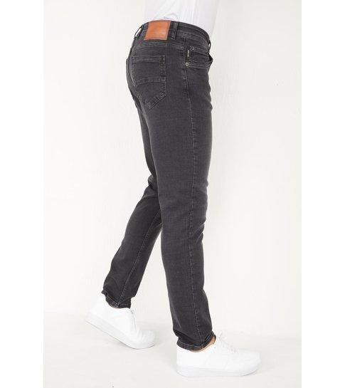 TRUE RISE Mannen Spijkerbroek Stretch Regular Fit Jeans - DP18- Grijs