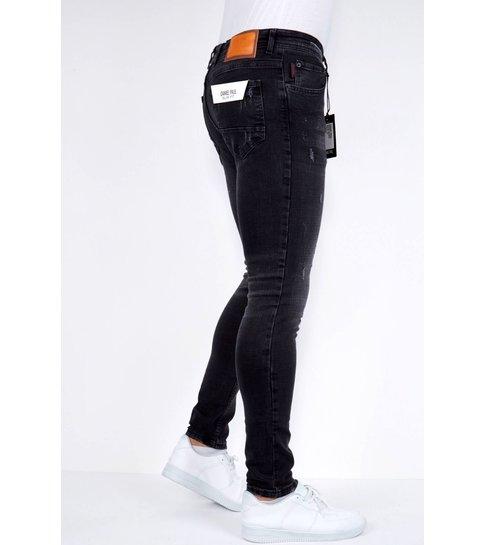 TRUE RISE Zwarte Jeans Heren Stretch Slim fit - DP/S-21 -Zwart