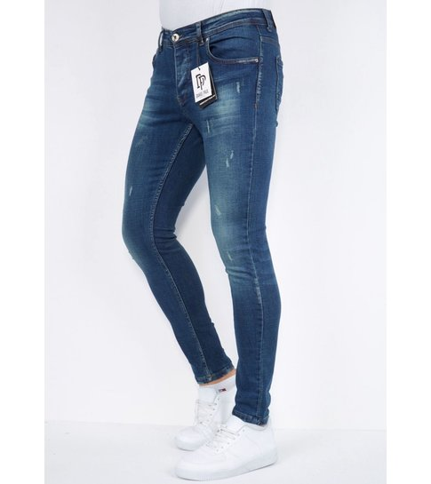 TRUE RISE Ripped  Slim fit Heren Jeans - DP/S-27 -Blauw