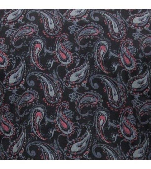 TONY BACKER Paisley Hemd voor Mannen - Slim Fit - 3089 - Zwart