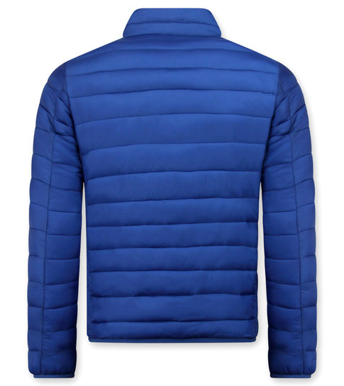 Enos Heren Korte Jas - Slim Fit- Blauw