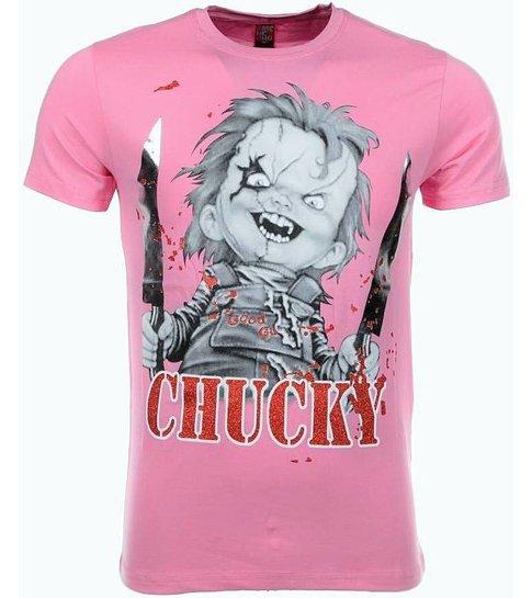Local Fanatic - Masch. T-shirt - Chucky - Roze