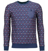 BN8 BLACK NUMBER Flamingo - Sweater - Donker Blauw