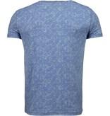 BN8 BLACK NUMBER Blader Motief Summer - T-Shirt - Blauw