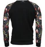 Local Fanatic Rozen Skull Arm Motief - Sweater - Zwart