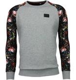 Local Fanatic Rozen Skull Arm Motief - Sweater - Grijs