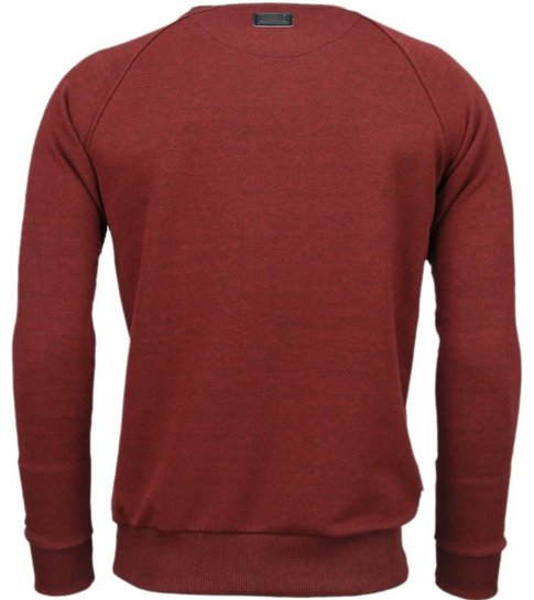 Local Fanatic Exclusief Basic - Sweater - Bordeaux