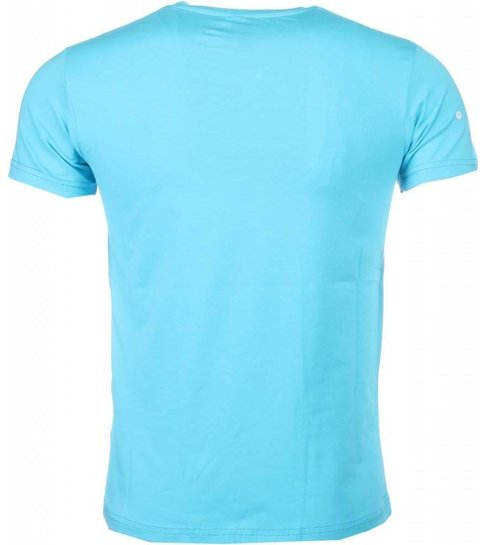 Local Fanatic T-shirt I Love Curacao - Blauw