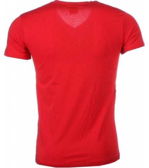Local Fanatic T-shirt I Love Maroc - Rood