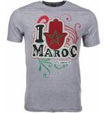 Local Fanatic T-shirt I Love Maroc - Grijs
