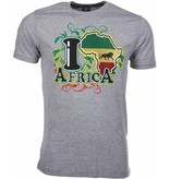 Local Fanatic T-shirt I Love Africa - Grijs